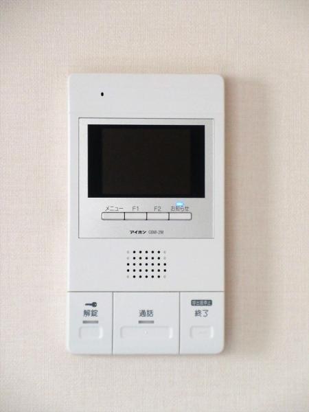 TVモニター付インターホン。訪問者を確認できて安心