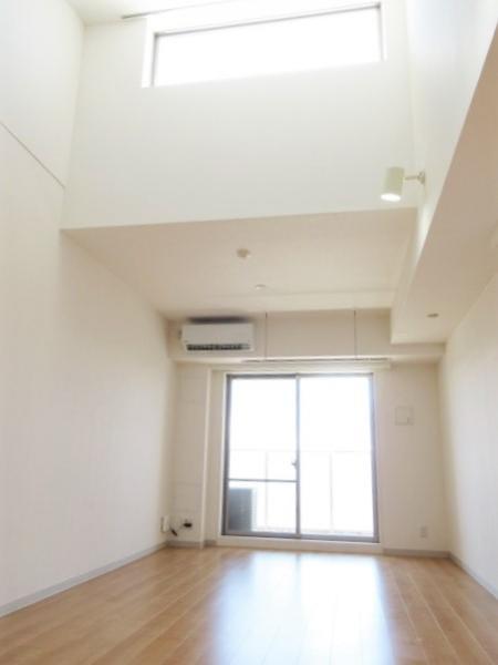 天窓あり高い天井が魅力の11帖超南向き洋室