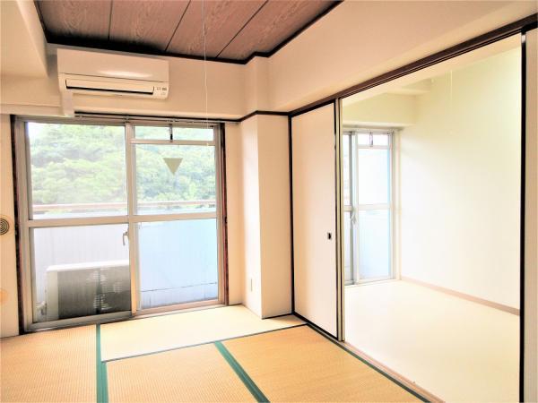 和室(約6帖)襖を開け放つと広々空間として使用可能♪