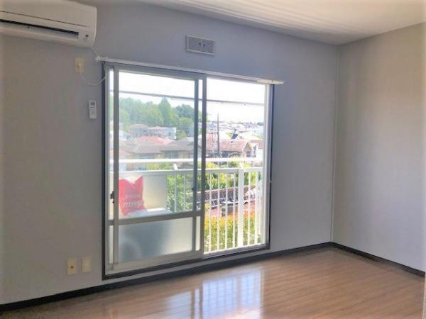 南側洋室(約6帖)エアコン有