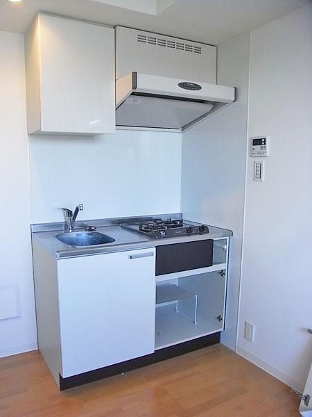 2口ガスコンロのキッチン
