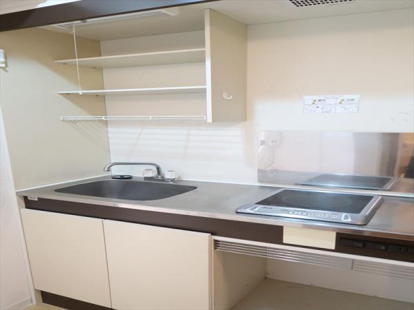 IHコンロのキッチン 収納スペース有!
