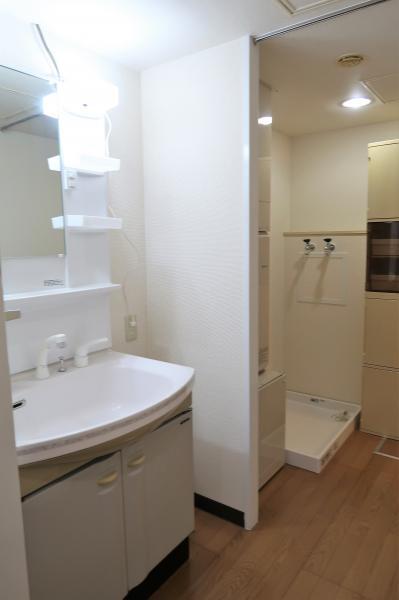 洗面台は便利なシャワーハンドル付き♪