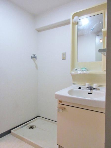 独立洗面台・室内洗濯機置場あり。