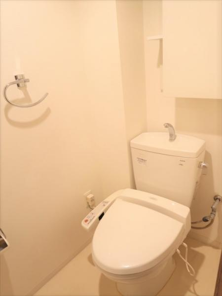 温水洗浄機能付きトイレ