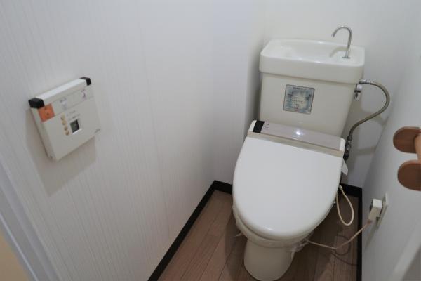 洗浄暖房便座のお手洗いです
