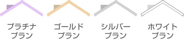 プラチナプラン・ゴールドプラン・シルバープラン・ホワイトプラン